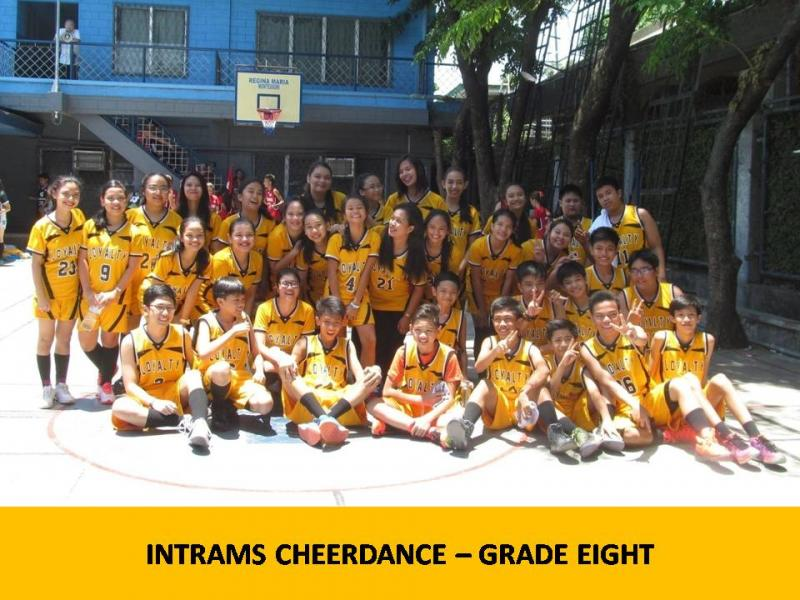 Intrams cheerdance gr 8