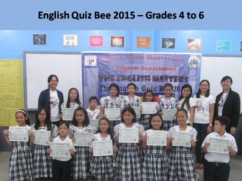 ENGLISH QUIZ BEE GR 4 TO 6