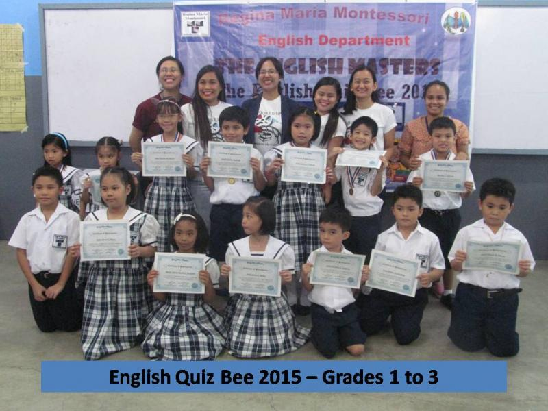 ENGLISH QUIZ BEE GR 1 TO 3
