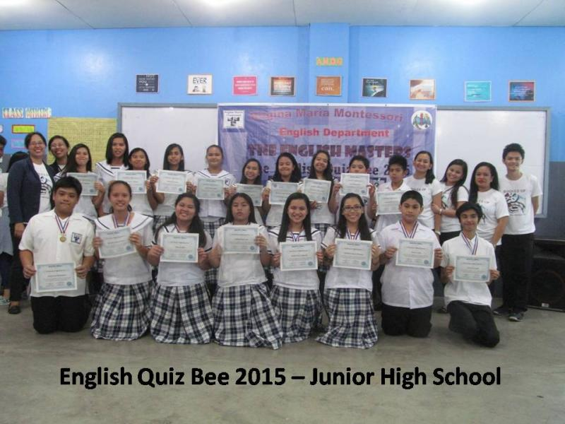 ENGLISH QUIZ BEE JUNIOR HS